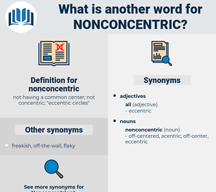 nonconcentric, synonym nonconcentric, another word for nonconcentric, words like nonconcentric, thesaurus nonconcentric