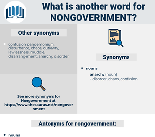 nongovernment, synonym nongovernment, another word for nongovernment, words like nongovernment, thesaurus nongovernment