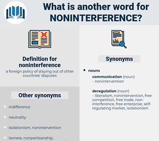noninterference, synonym noninterference, another word for noninterference, words like noninterference, thesaurus noninterference