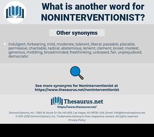noninterventionist, synonym noninterventionist, another word for noninterventionist, words like noninterventionist, thesaurus noninterventionist