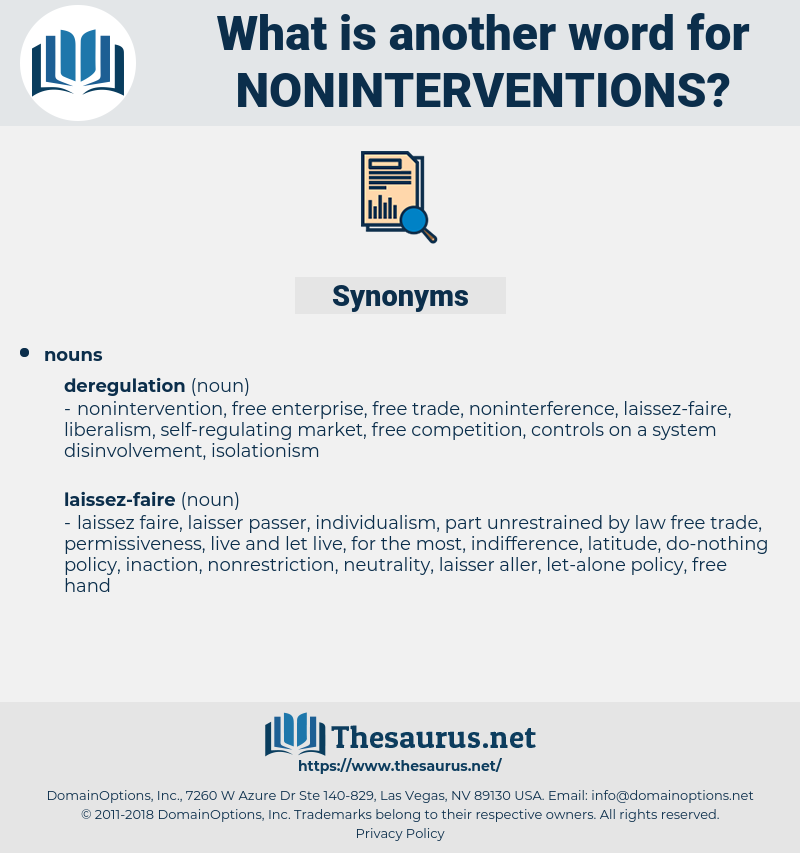 noninterventions, synonym noninterventions, another word for noninterventions, words like noninterventions, thesaurus noninterventions