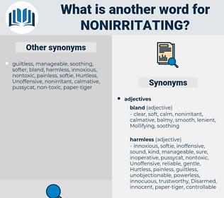 nonirritating, synonym nonirritating, another word for nonirritating, words like nonirritating, thesaurus nonirritating