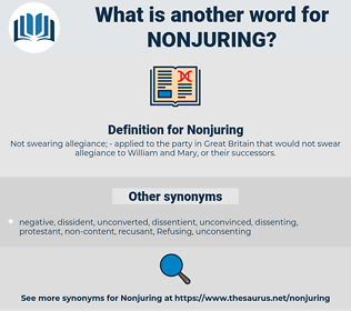 Nonjuring, synonym Nonjuring, another word for Nonjuring, words like Nonjuring, thesaurus Nonjuring