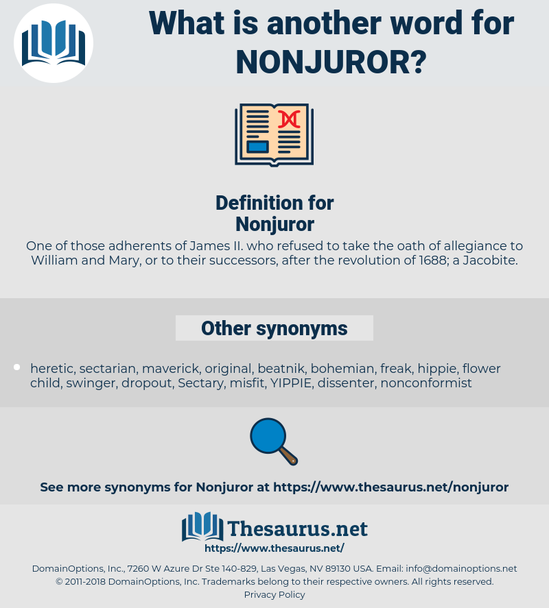 Nonjuror, synonym Nonjuror, another word for Nonjuror, words like Nonjuror, thesaurus Nonjuror