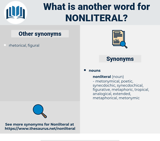 nonliteral, synonym nonliteral, another word for nonliteral, words like nonliteral, thesaurus nonliteral