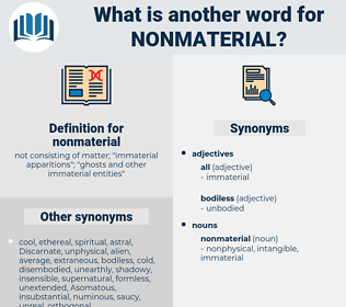 nonmaterial, synonym nonmaterial, another word for nonmaterial, words like nonmaterial, thesaurus nonmaterial