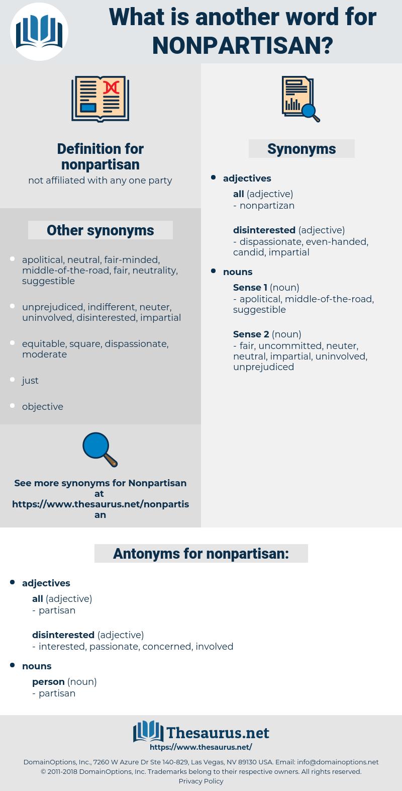 nonpartisan, synonym nonpartisan, another word for nonpartisan, words like nonpartisan, thesaurus nonpartisan