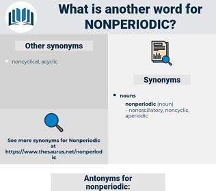 nonperiodic, synonym nonperiodic, another word for nonperiodic, words like nonperiodic, thesaurus nonperiodic