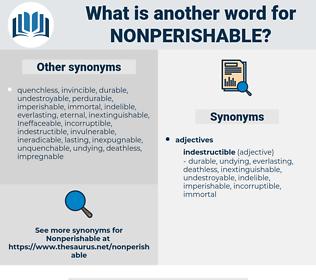nonperishable, synonym nonperishable, another word for nonperishable, words like nonperishable, thesaurus nonperishable