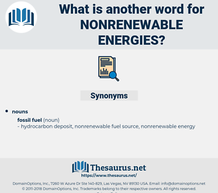 nonrenewable energies, synonym nonrenewable energies, another word for nonrenewable energies, words like nonrenewable energies, thesaurus nonrenewable energies