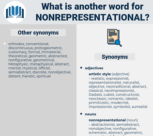 nonrepresentational, synonym nonrepresentational, another word for nonrepresentational, words like nonrepresentational, thesaurus nonrepresentational