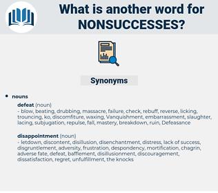 nonsuccesses, synonym nonsuccesses, another word for nonsuccesses, words like nonsuccesses, thesaurus nonsuccesses