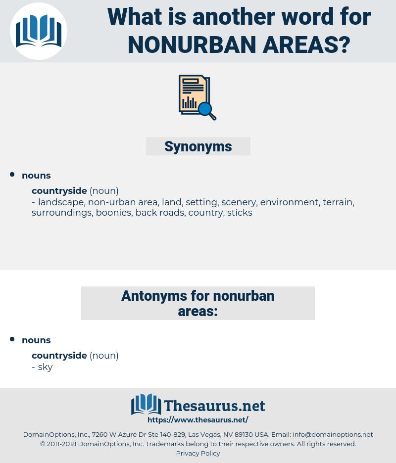 nonurban areas, synonym nonurban areas, another word for nonurban areas, words like nonurban areas, thesaurus nonurban areas