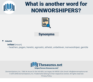 nonworshipers, synonym nonworshipers, another word for nonworshipers, words like nonworshipers, thesaurus nonworshipers