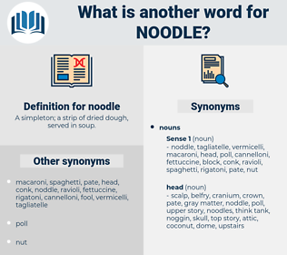 noodle, synonym noodle, another word for noodle, words like noodle, thesaurus noodle