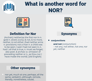 Nor, synonym Nor, another word for Nor, words like Nor, thesaurus Nor