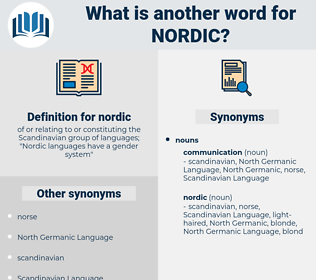 nordic, synonym nordic, another word for nordic, words like nordic, thesaurus nordic
