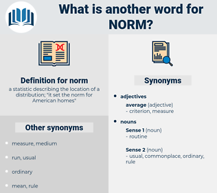 norm, synonym norm, another word for norm, words like norm, thesaurus norm