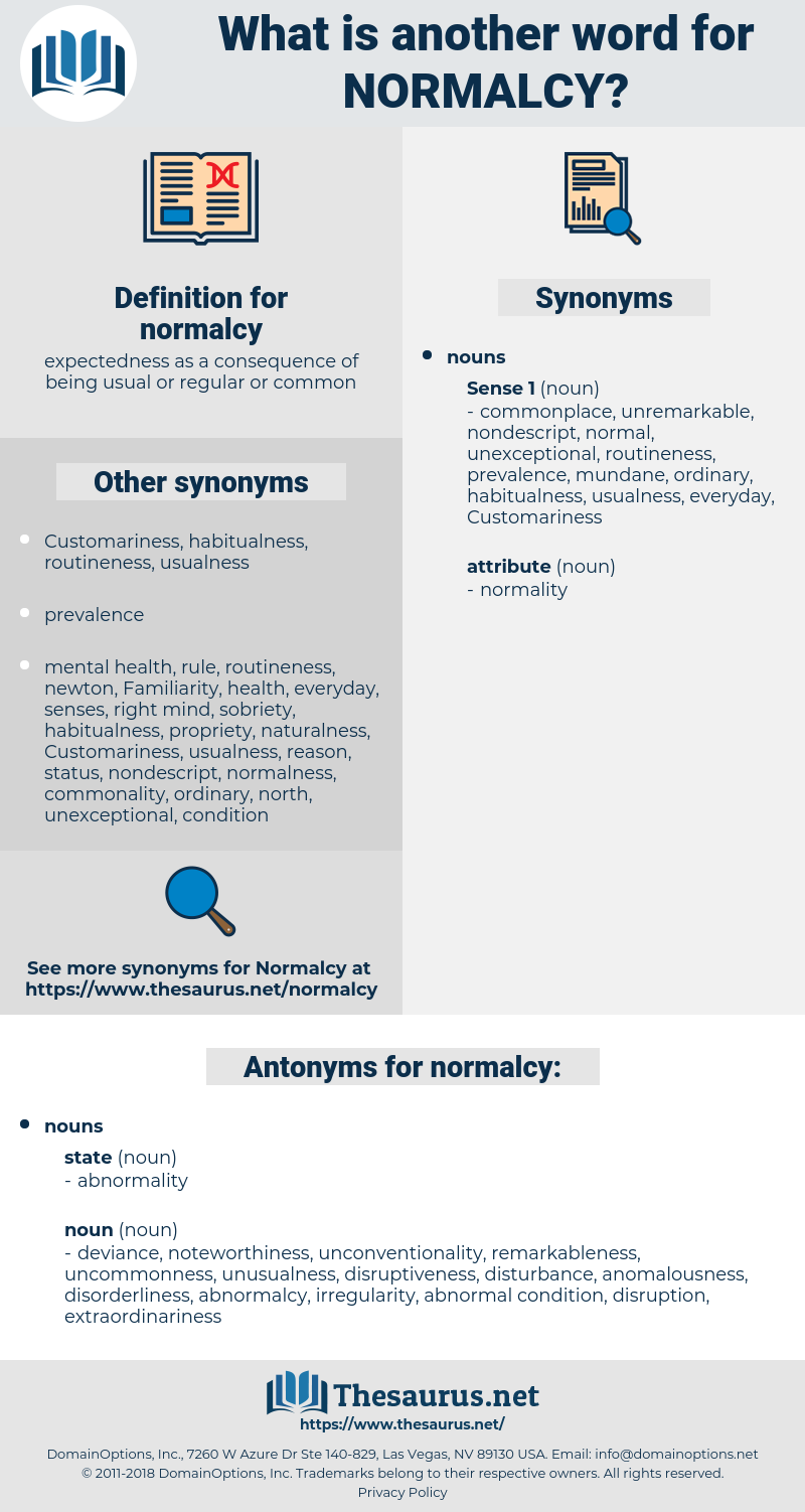 normalcy, synonym normalcy, another word for normalcy, words like normalcy, thesaurus normalcy