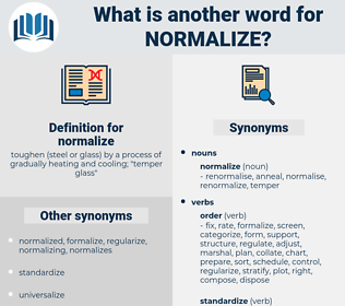 normalize, synonym normalize, another word for normalize, words like normalize, thesaurus normalize