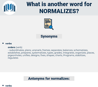 normalizes, synonym normalizes, another word for normalizes, words like normalizes, thesaurus normalizes
