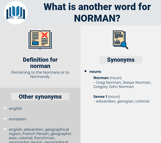 norman, synonym norman, another word for norman, words like norman, thesaurus norman