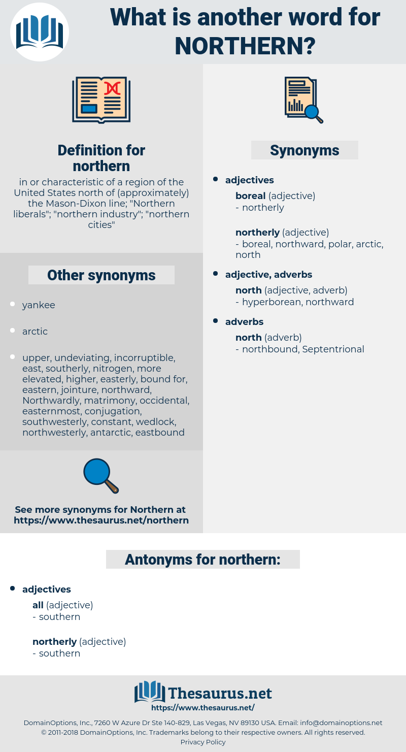 northern, synonym northern, another word for northern, words like northern, thesaurus northern