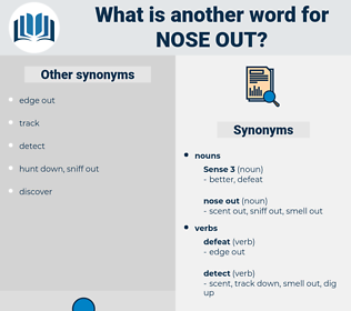 nose out, synonym nose out, another word for nose out, words like nose out, thesaurus nose out