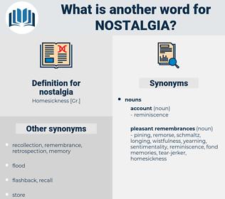 nostalgia, synonym nostalgia, another word for nostalgia, words like nostalgia, thesaurus nostalgia