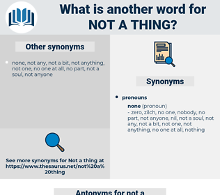 not a thing, synonym not a thing, another word for not a thing, words like not a thing, thesaurus not a thing
