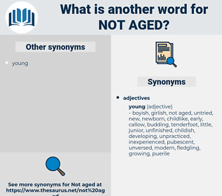 not aged, synonym not aged, another word for not aged, words like not aged, thesaurus not aged
