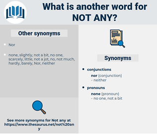not any, synonym not any, another word for not any, words like not any, thesaurus not any