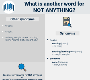 not anything, synonym not anything, another word for not anything, words like not anything, thesaurus not anything