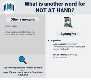 not at hand, synonym not at hand, another word for not at hand, words like not at hand, thesaurus not at hand