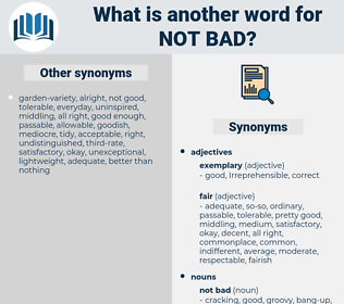 not bad, synonym not bad, another word for not bad, words like not bad, thesaurus not bad