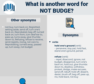 not budge, synonym not budge, another word for not budge, words like not budge, thesaurus not budge