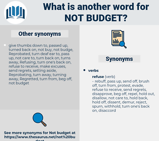 not budget, synonym not budget, another word for not budget, words like not budget, thesaurus not budget