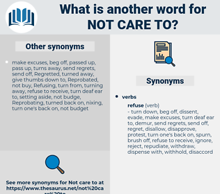 not care to, synonym not care to, another word for not care to, words like not care to, thesaurus not care to