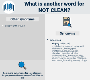 not clean, synonym not clean, another word for not clean, words like not clean, thesaurus not clean