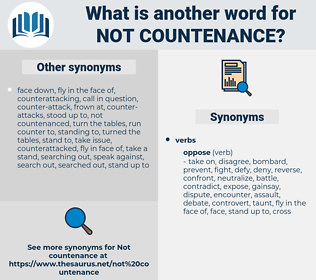 not countenance, synonym not countenance, another word for not countenance, words like not countenance, thesaurus not countenance