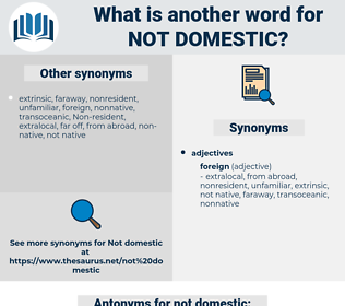 not domestic, synonym not domestic, another word for not domestic, words like not domestic, thesaurus not domestic