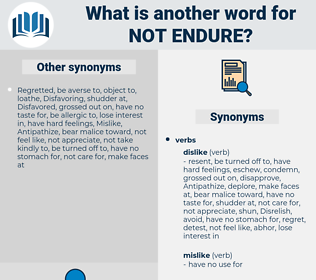 not endure, synonym not endure, another word for not endure, words like not endure, thesaurus not endure