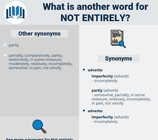 not entirely, synonym not entirely, another word for not entirely, words like not entirely, thesaurus not entirely