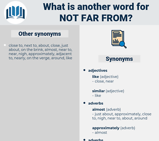 not far from, synonym not far from, another word for not far from, words like not far from, thesaurus not far from