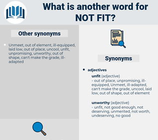 not fit, synonym not fit, another word for not fit, words like not fit, thesaurus not fit