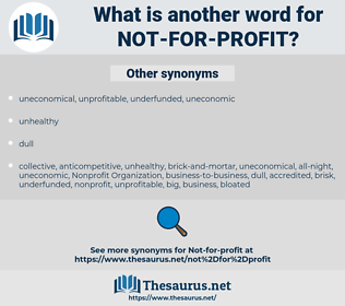 not-for-profit, synonym not-for-profit, another word for not-for-profit, words like not-for-profit, thesaurus not-for-profit