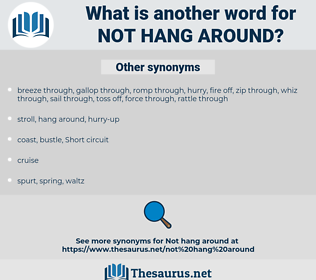 not hang around, synonym not hang around, another word for not hang around, words like not hang around, thesaurus not hang around
