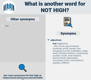 not high, synonym not high, another word for not high, words like not high, thesaurus not high