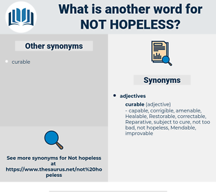 not hopeless, synonym not hopeless, another word for not hopeless, words like not hopeless, thesaurus not hopeless