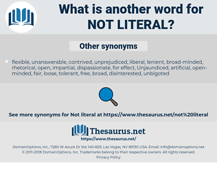 not literal, synonym not literal, another word for not literal, words like not literal, thesaurus not literal